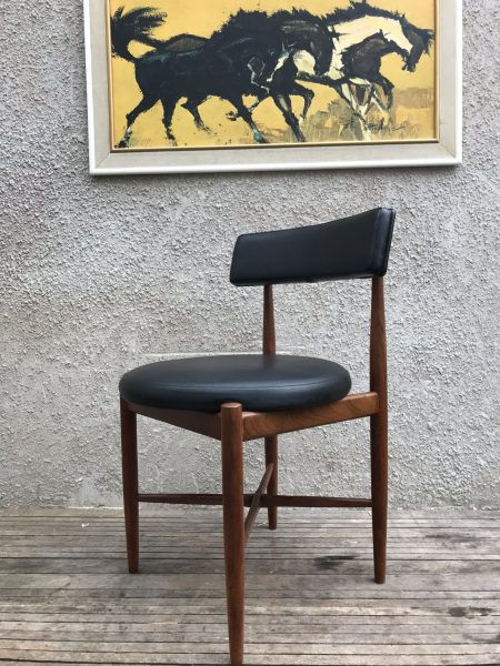 Classic 4 Kofod Larsen Dining Chairs and G PLAN FRESCO Dining Table