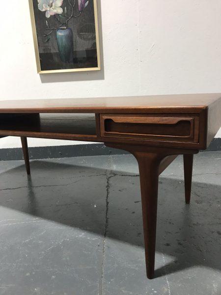 Mid Century Vintage 1960s Teak Danish Coffee Table By DYRLUND