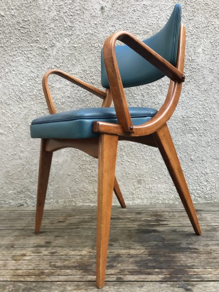 Mid Century Vintage 6 x Stoe Ben Chair Dining Chairs / Armchairs