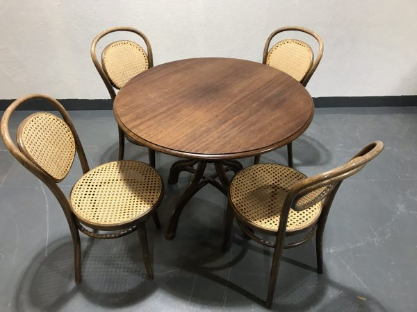 4 x Bistro Radomsko Thonet Chairs & P.I. Bistro Dining Table