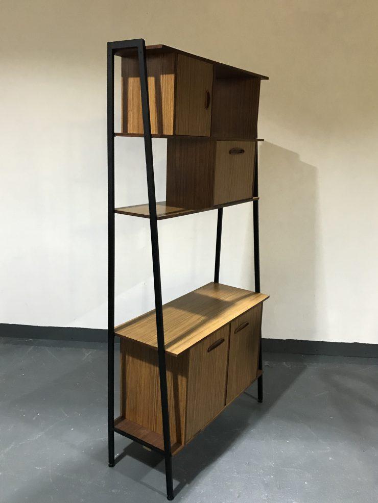 Vintage 3 Tier Shelving / Storage / Bookcase / Wall Unit / Room Divider