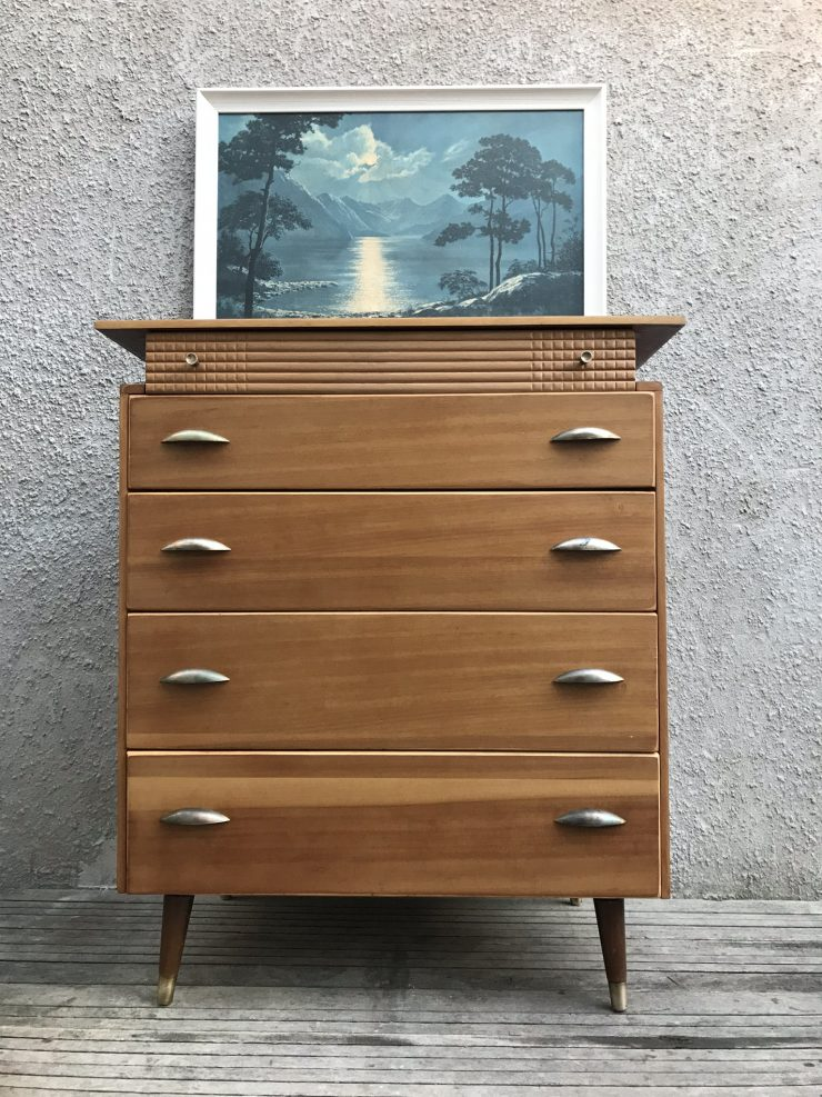 1950s Vintage Chest Of Drawers