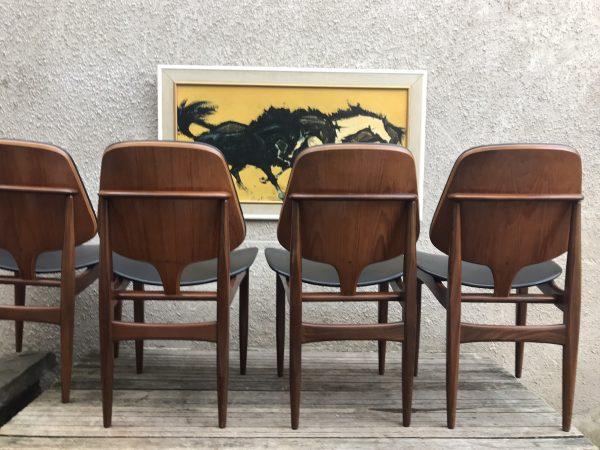 4 X Mid Century Vintage Elliot's of Newbury (EON) Teak Dining Chairs