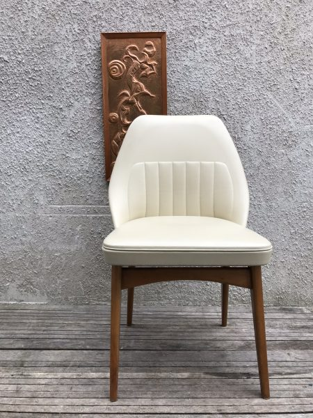 Single Mid Century Benchair Padded Dining Bedroom Cocktail Chair