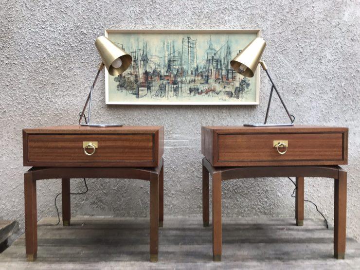 Pair of Vintage 1960s G Plan Collector Range Bedside Tables
