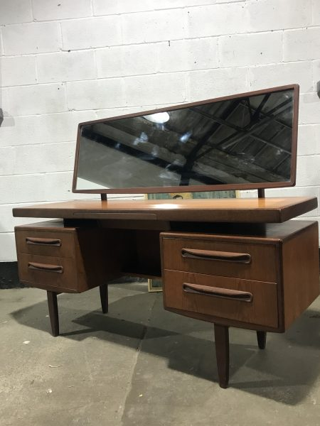 G PLAN Mid Century Floating Top Desk / Dressing Table with Mirror
