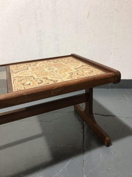 Retro Classic 1970s Fresco G Plan Tile & Glass Long John Coffee Table
