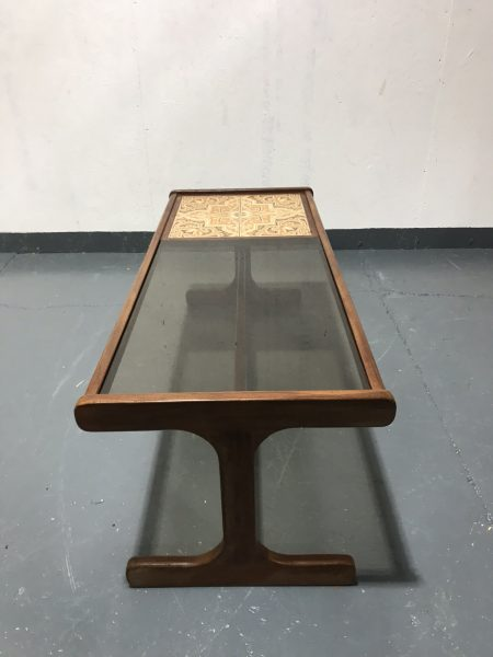 Retro Classic 1970s Fresco G Plan Tile & Glass Long John Coffee Table