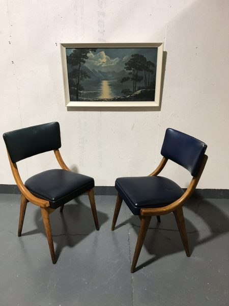 Pair Of Mid Century Vintage Stoe Ben Chairs Dining Chairs