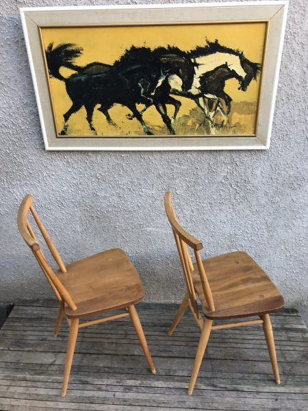 Pair of Vintage ERCOL ALL PURPOSE Chairs 391