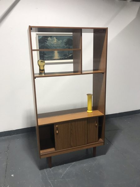 Vintage SCHREIBER Wall Unit Bookcase Sideboard Room Divider TV Media Unit Retro