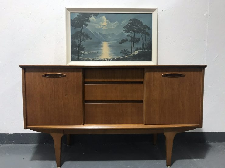 Small Mid Century Vintage Danish Inspired Sideboard by Jentique