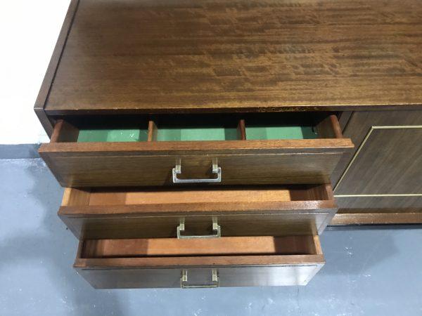Vintage Mid Century NATHAN Tola / Teak Sideboard TV Unit Media Unit
