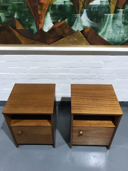 Pair of Retro Vintage 1960s AVALON Bedside Cabinets / Cupboards