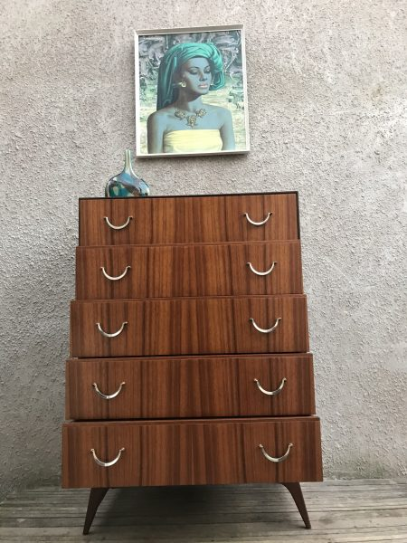1960s Vintage MEREDEW Tallboy / Chest of Drawers