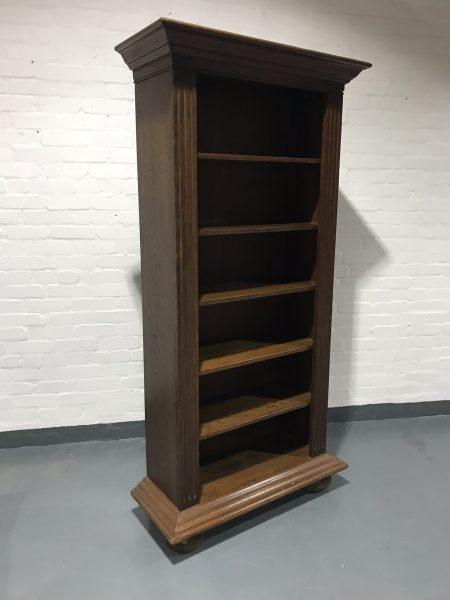 Contemporary Victorian Style Dark Mahogany Effect Tall Bookcase