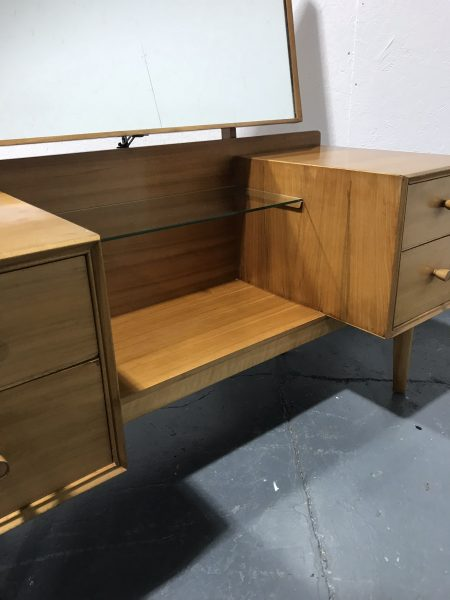 Vintage Mid Century ALFRED COX for Heals Pedestal Dressing Table