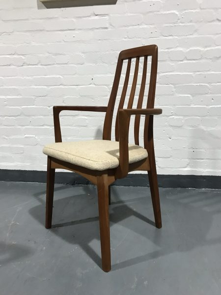 Vintage Set of 6 Danish Inspired BENNY LINDEN Dining Chairs Inc. 2 Carvers