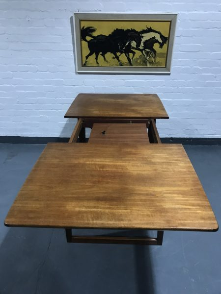 Vintage Retro 1960s Danish Extendable Teak Dining Table Gunther Hoffsted Style