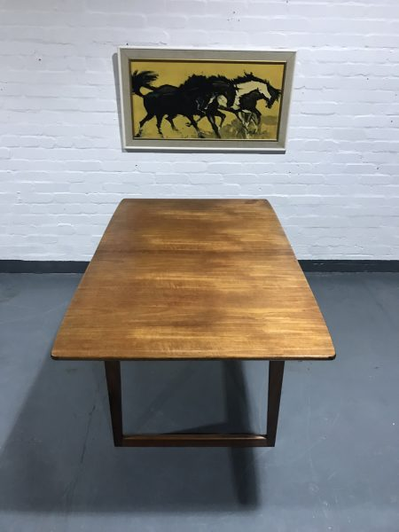 Danish Teak Extendable Dining Table and Six Chairs