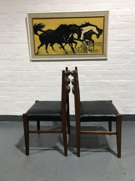 6 x Vintage Retro Mid Century G Plan / Danish Style Teak Dining Chairs