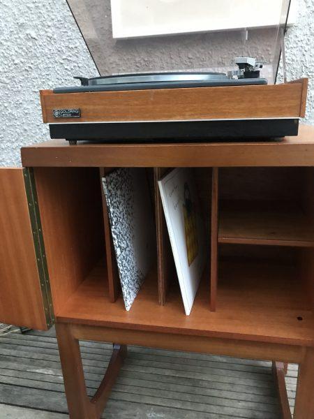 Vintage Retro Mid Century Teak Record / Vinyl Storage Cabinet byREMPLOY