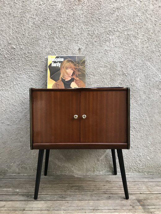 Mid Century Vinyl Record Storage / Cabinet on Atomic Style Legs