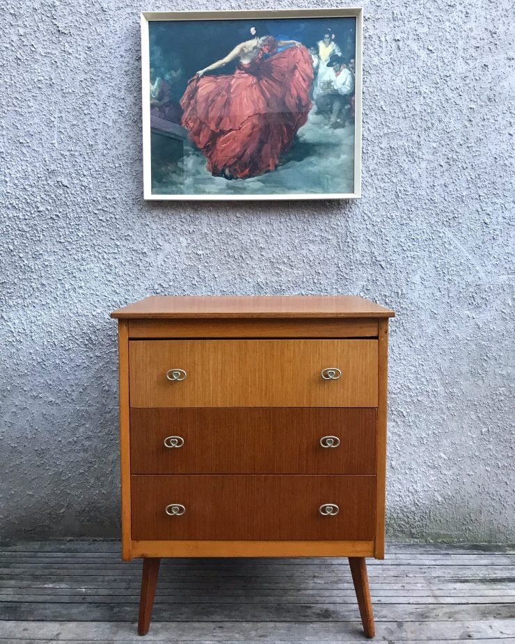 Vintage Mid Century Limelight Chest of Drawers