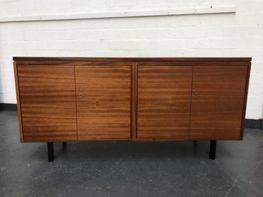 Sleek Vintage Retro Modernist Sideboard Credenza Media TV Cabinet
