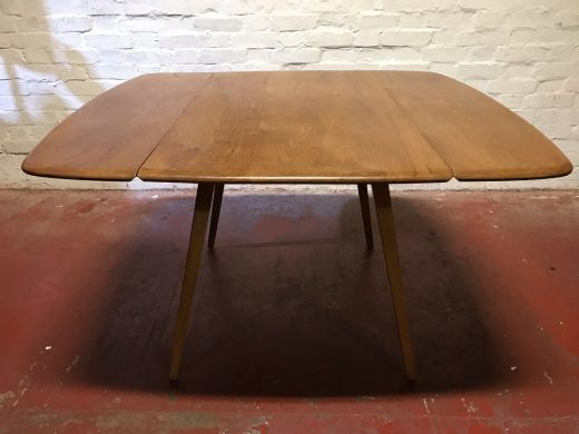 1960s ERCOL Drop Leaf Square Elm & Beech Dining Table Model 833