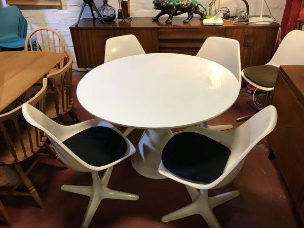 Original Mid Century Arkana 'Tulip' Dining Table & Four Chairs