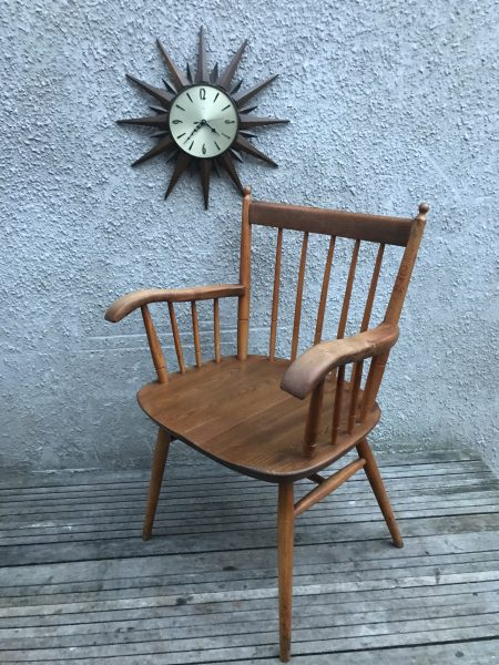 Mid Century Vintage Smokers / Bow / Captains Chair Stick Back Carver
