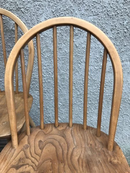 Set of 4  Mixed Vintage Mid Century 1950s / 1960s ERCOL Windsor Kitchen Chairs