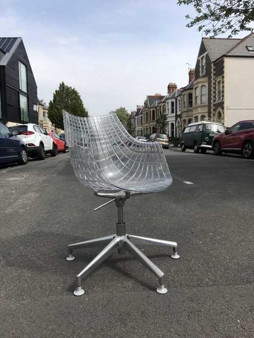 Transparent Driade Meridianda Swivel Chair
