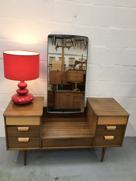Vintage Mid Century UNIFLEX Walnut Dressing Table