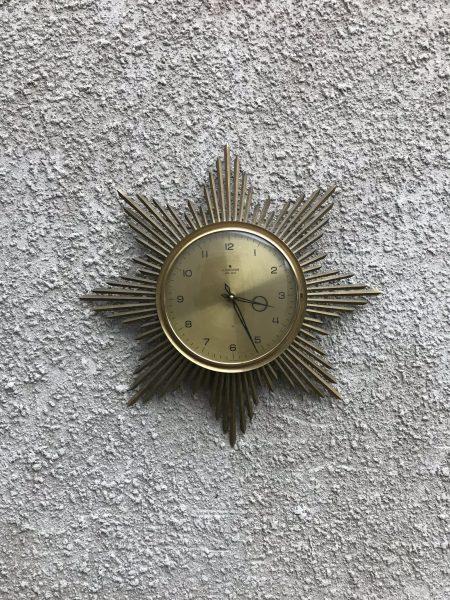 Mid Century Vintage Starburst / Sunburst Clocks