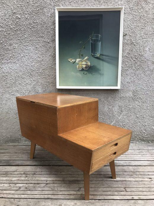 Mid Century VANSON Double Layered Sewing / Craft / Tool / Paint Box Heals Era