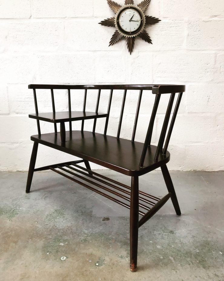 Vintage Retro Chippy Heath Telephone Seat in Ercol Style