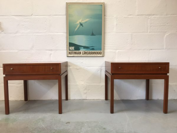 Pair of Vintage 1960s Greaves & Thomas Teak Side Tables Bedside Cabinets