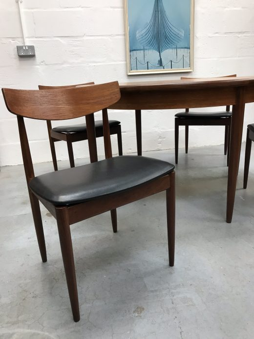 Classic G Plan Fresco Dining Table and Matching 4 G Plan Chairs