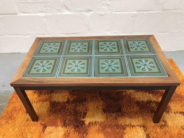 Retro Danish Art Tile Coffee Table by TRIOH