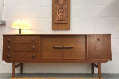 Retro Vintage 1960s / 1970s Sideboard / Cabinet / Media Cabinet