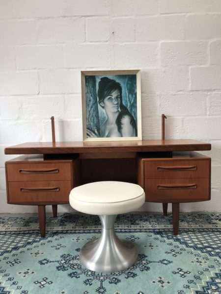 Classic G PLAN FRESCO Floating Top Desk / Dressing Table with Mirror
