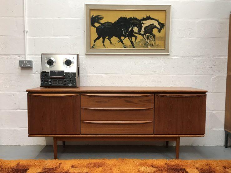 Vintage 1960s / 1970s Sideboard / Cabinet / Media Cabinet