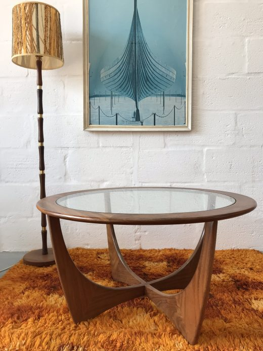 1960s Teak Glass Circular 'Astro' Coffee Table by V.B. Wilkins for G Plan