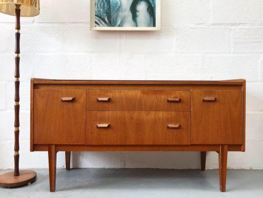 Vintage 1960's WRIGHTON Teak 2 Drawer Sideboard / Dressing Table Mid-Century