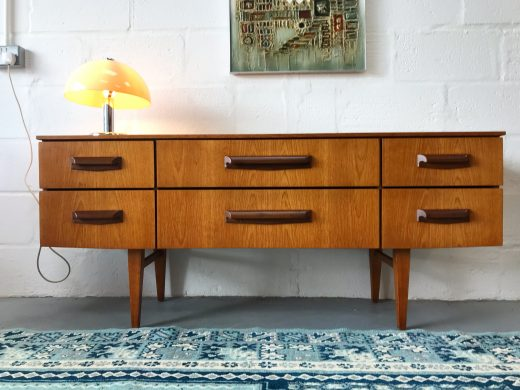 Vintage Mid Century Dressing Table / Sideboard / Chest Danish Style Retro