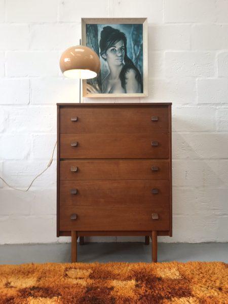 Retro Teak 1960s Symbol Chest of Drawers