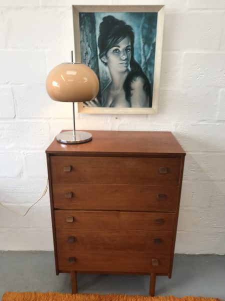 Retro Teak 1960s Symbol Chest of Drawers