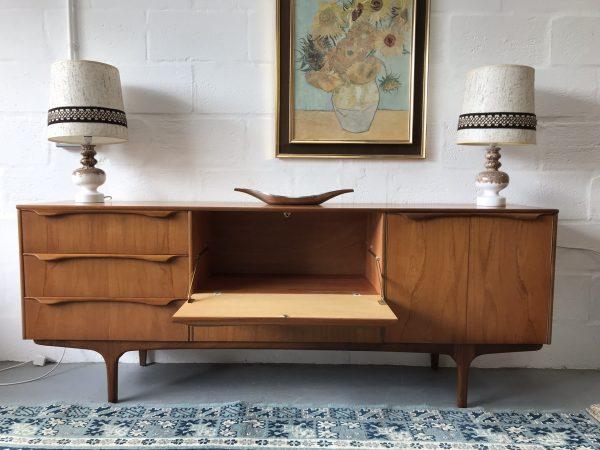 Mid Century Teak Sutcliffe of Todmorden's 'S Form' Range Sideboard Danish Style